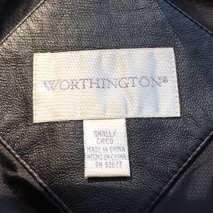 Worthington Jackets & Coats - Worthington black leather zippered jacket Sz S